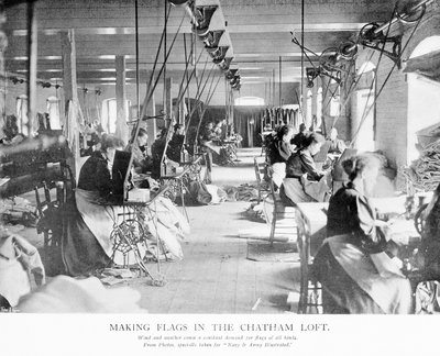 Making flags in the Chatham Loft by unknown - print