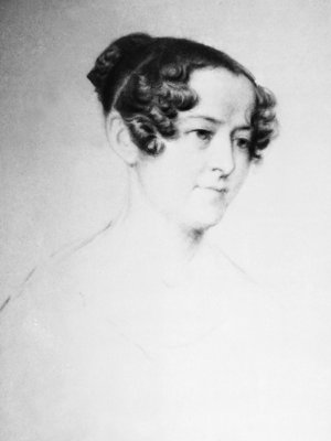Portrait of Lady Jane Franklin (1791-1875) by unknown - print