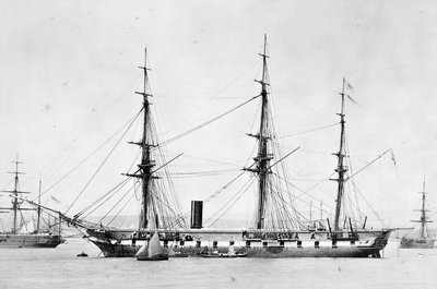 Photograph of the ship 'Topaze' by unknown - print