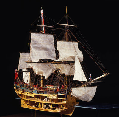 HM bark 'Endeavour' by Robert A. Lightley - print