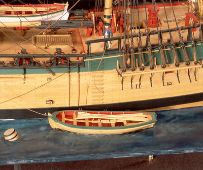 'Endeavour', detail, yawl by Robert A. Lightley - print