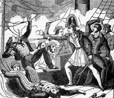 Charlotte de Berry, the female pirate by unknown - print