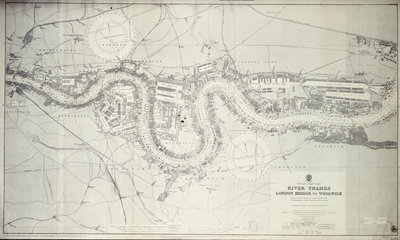 Map of River Thames: London Bridge to Woolwich by unknown - print