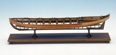Full hull model, shallop, port broadside by unknown - print