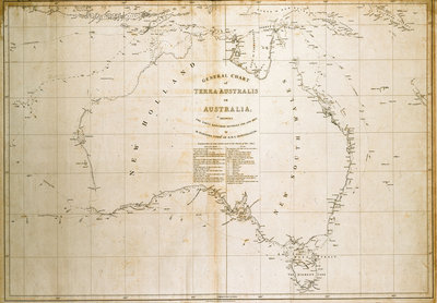Chart of Terra Australis (Australia) by unknown - print