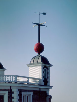 Time ball (in dropped position) at Royal Observatory, Greenwich by National Maritime Museum Photo Studio - print