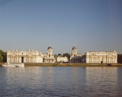 The Thames, Old Royal Naval College and the Queen's House, Greenwich, London. by Andrew Holt - print
