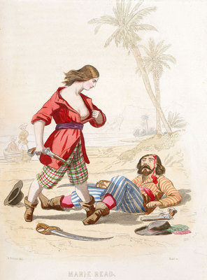 Mary Read reveals herself to a vanquished enemy by A. Catel - print