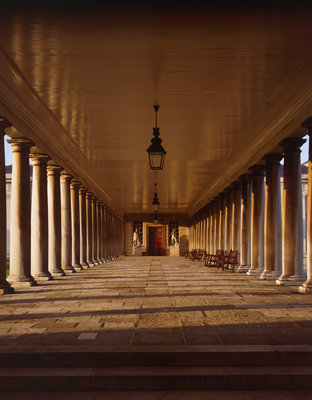 Colonnades looking towards Queen's House at National Maritime Museum, Greenwich by National Maritime Museum Photo Studio - print