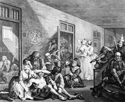 Longitude Lunatics' from 'The Rake's Progress by William Hogarth - print