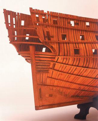 'Intrepid', starboard stern quarter detail by Joseph Williams - print