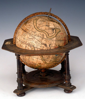 Sphere and stand by Matthaeus Seutter - print