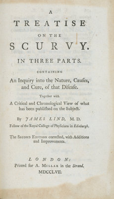 'A Treatise on the Scurvy' frontispiece by unknown - print