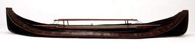 Full hull model, collapsible lifeboat, broadside, collapsed for stowage by G. L. Berthon - print