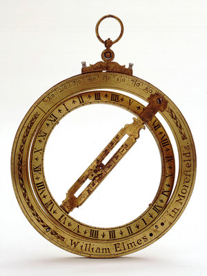Universal equinoctial ring dial by William Elmes - print