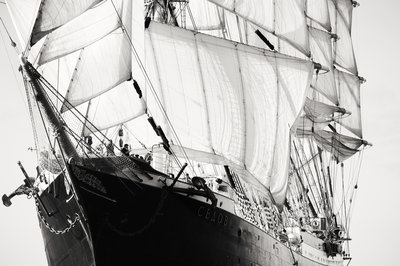 Russian four-masted barque 'Sedov' at Falmouth during Funchal 500 Tall Ships Race, 2008 by Richard Sibley - print
