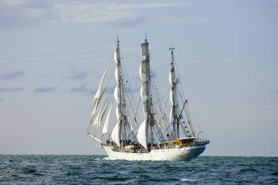 Norwegian full-rigged ship 'Christian Radich' bound for St Petersburg, during Gdynia Tall Ships Race 2009 by Richard Sibley - print