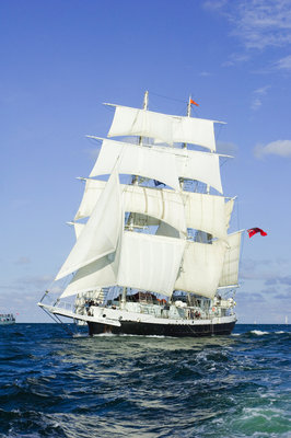 Three-masted barque 'Lord Nelson' bound for St Petersburg, Gdynia Tall Ships Race 2009 by Richard Sibley - print