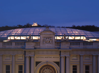 Stanhope entrance of National Maritime Museum, Greenwich by National Maritime Museum Photo Studio - print
