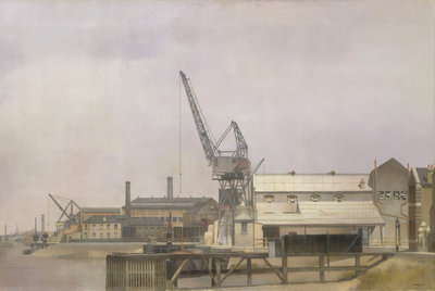 Hollick's Wharf on the Blackwall Reach of the Thames, Greenwich by Jesse Dale Cast - print