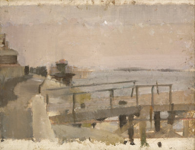 Study for A Jetty at Greenwich by Jesse Dale Cast - print