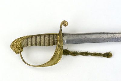 Solid half-basket hilt of sword by unknown - print
