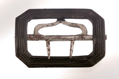 Japanned steel shoe buckle by unknown - print