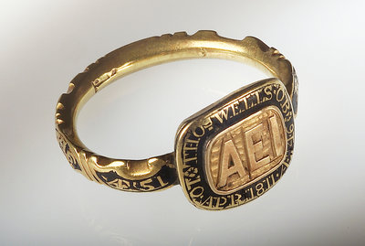 Mourning ring by unknown - print