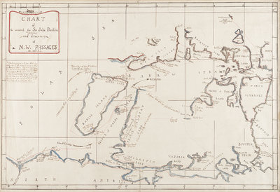 Chart of the search for Sir John Franklin and discovery of the North West Passage by Edward Augustus Inglefield - print