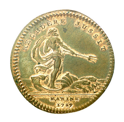 Counter commemorating the defeat of the Pirates of Sales, 1739; reverse by unknown - print