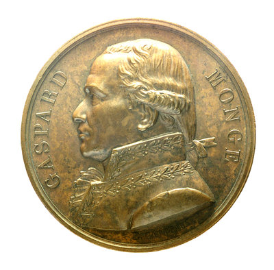 Medal commemorating Admiral Gaspard Monge (1746-1818); obverse by J.E. Gatteaux - print