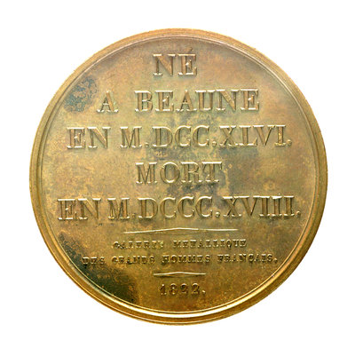 Medal commemorating Admiral Gaspard Monge (1746-1818); reverse by J.E. Gatteaux - print