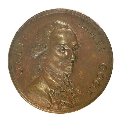 Medal commemorating Captain James Cook (1728-1779); obverse by unknown - print