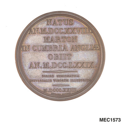 Medal commemorating Captain James Cook (1728-1779) by Smith - print