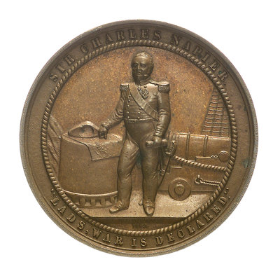 Medal commemorating Admiral Sir Charles Napier (1786-1860); obverse by Allen & Moore - print