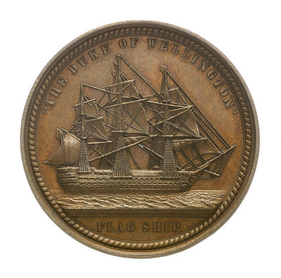 Medal commemorating Admiral Sir Charles Napier (1786-1860); reverse by Allen & Moore - print