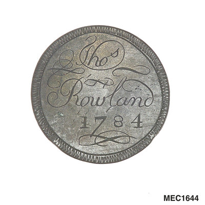 Engraved commemorative coin by unknown - print