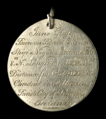 Engraved commemorative coin; obverse by unknown - print