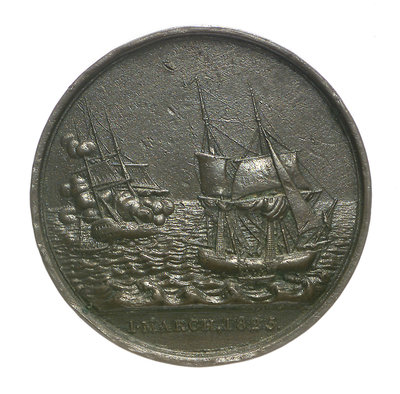 Medal commemorating the loss of the East Indiaman 'Kent', 1825; obverse by Thomas Halliday - print