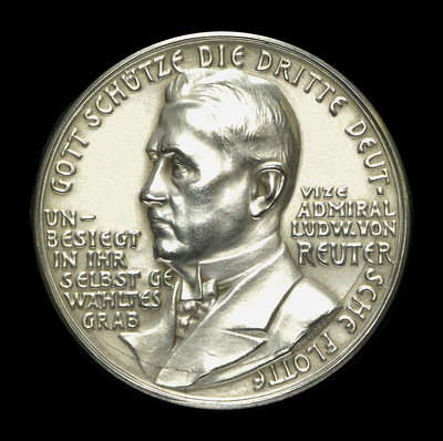 Medal commemorating the scuttling of the German fleet, 1919; obverse by unknown - print