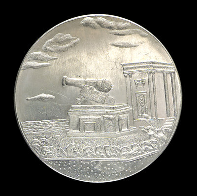 Medal commemorating the capture of HMS 'Tiger' at Odessa, 1854; obverse by unknown - print