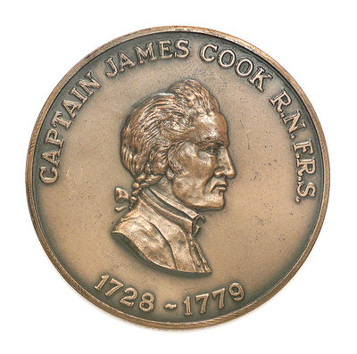 Medal commemorating Captain James Cook (1728-1779); obverse by Historic Medals - print