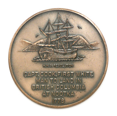 Medal commemorating Captain James Cook (1728-1779); reverse by Historic Medals - print