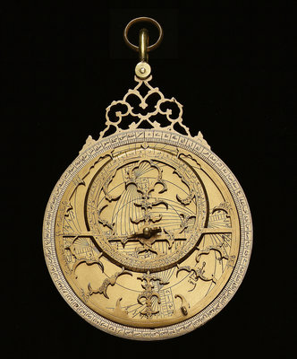 Astrolabe: mounted obverse by Muhammad Muqim ibn Mulla 'Isa - print