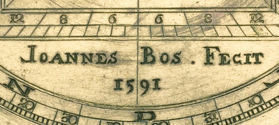 Astrolabe: detail of signature by unknown - print