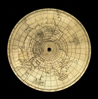 Astrolabe: geographical plate by Jean Naze - print