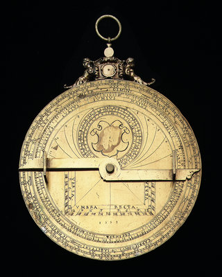 Astrolabe: mounted reverse by Jean Naze - print