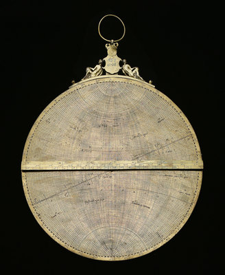 Astrolabe: mounted reverse by Adrian Descroli - print
