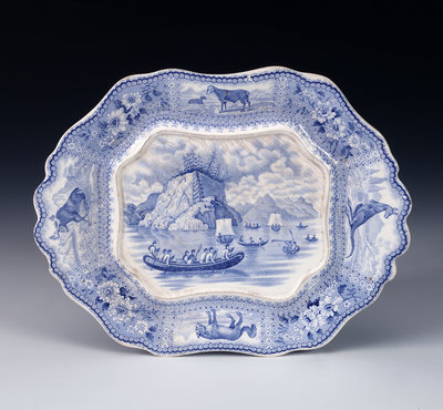 Tureen in 'Arctic Scenery' pattern by unknown - print