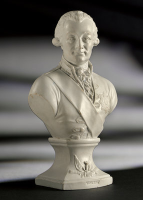 Bust of Admiral of the Fleet John Jervis, 1st Earl of St Vincent (1735-1823) by Worthington, Humble & Holland - print